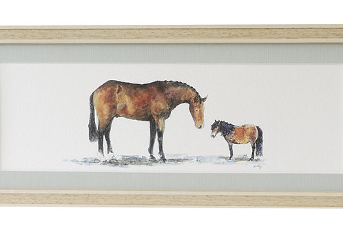 'We're Practically Twins' Horse Print