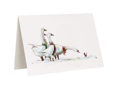 'Seasons Greetings' Geese Card
