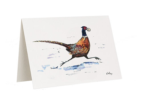 'Grab And Run' Pheasant Card