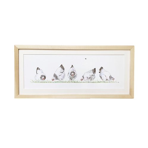 Spring Chickens Original Illustration