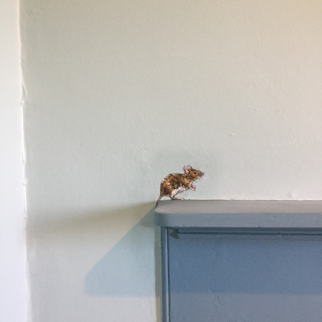 Mantle Piece Mouse Wall Mural.JPG