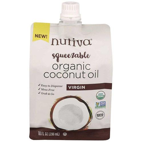 Nutiva Organic Virgin Coconut Oil, 10 Fluid Ounce