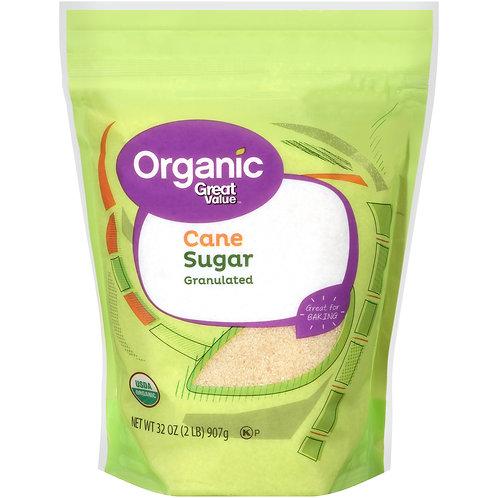 Great Value Organic Granulated Cane Sugar, 2 lbs