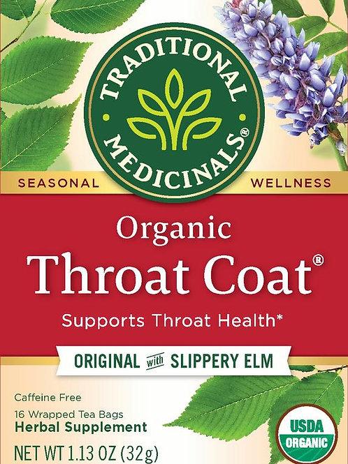 Traditional Medicinals, Organic Throat Coat, Tea Bags, 16 Count
