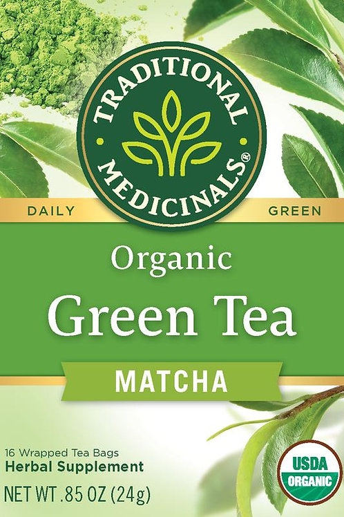 Traditional Medicinals, Organic Green Tea Matcha With Toasted Rice, Tea Bags, 16