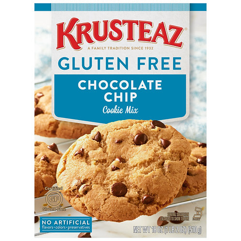 Krusteaz® Gluten Free Chocolate Chip Cookie Mix 18 oz. Box