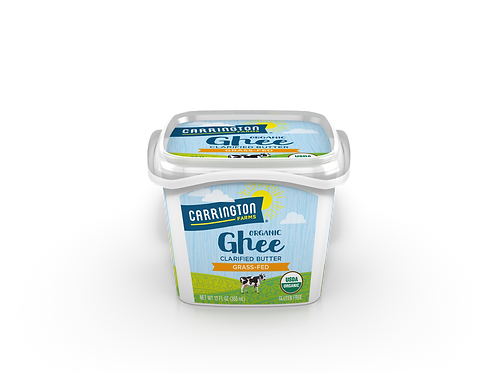 Carrington Farms Organic Ghee Clarified Butter Grass fed Gluten Free, 12 oz