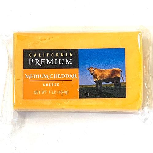 Medium cheddar cheese 1 lb
