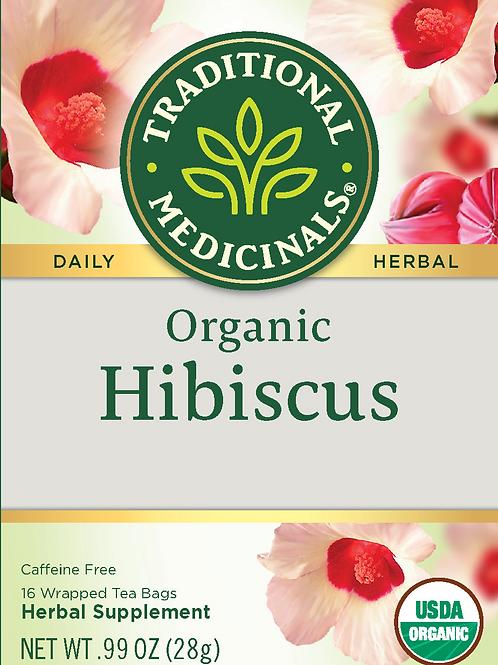 Traditional Medicinals, Organic Hibiscus, Tea Bags, 16 Count
