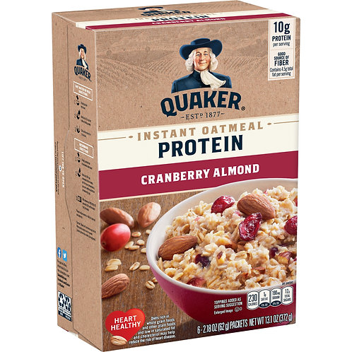 Quaker Select Starts Instant Oatmeal, Cranberry Almond, 6 Packets