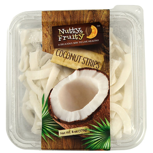 Nutty And Fruity Coconut Strips 6 oz