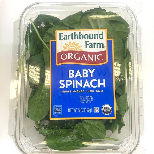 Organic baby spinach 5z