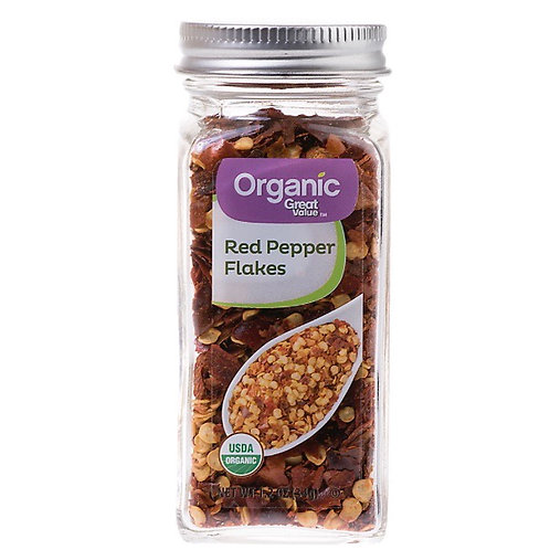Organic red pepper flakes 1.2z