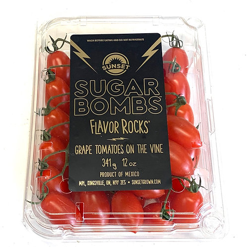 """Sugar Bombs"" grape tomatoes on the vine  12z"