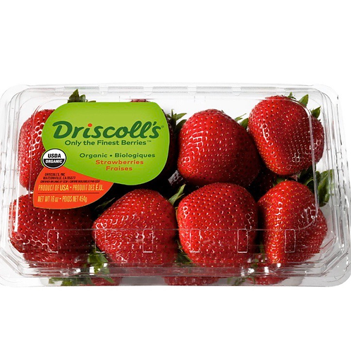 Organic strawberries (USA ), 16z