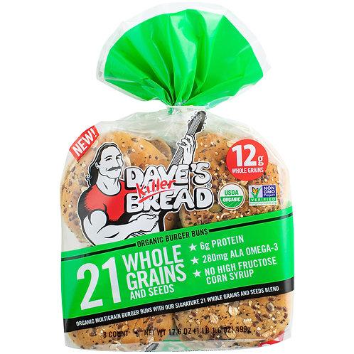 Dave's Killer Bread  21 Whole Grains and Seeds Organic Burger Buns 8 ct Bag