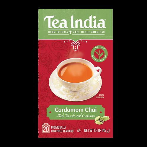 Tea India, Cardamom Chai, 20 Ct Tea Bags