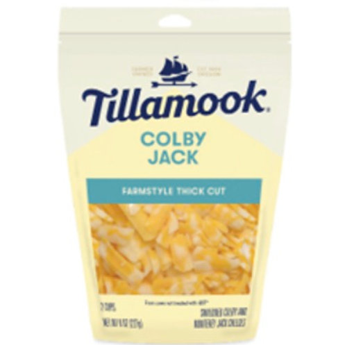 Tillamook thick cut Colby Jack cheese 8z