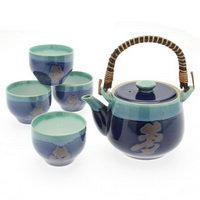 """Tea Set 1:4 Lapis/Jade""""Long Life"""""""