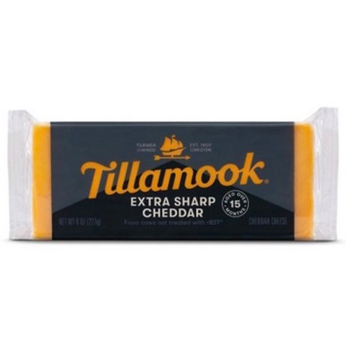 Tillamook extra sharp cheddar cheese 8z