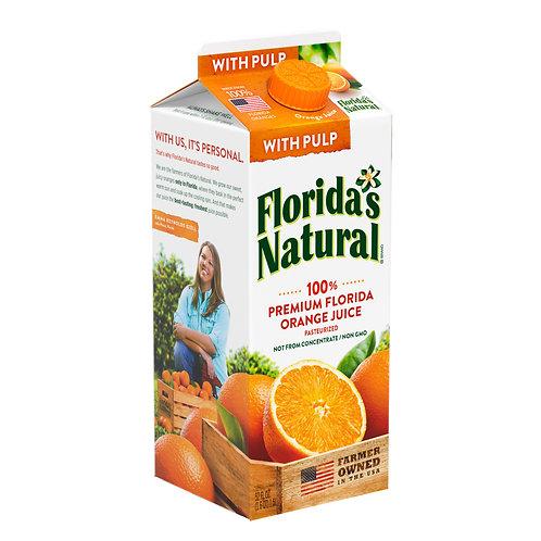 Florida's Natural With Pulp Orange Juice 52 oz.