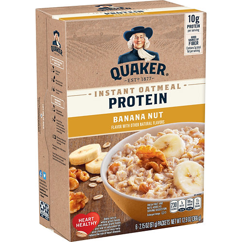 Quaker Select Starts, Instant Oatmeal, Banana Nut, 6 Packets