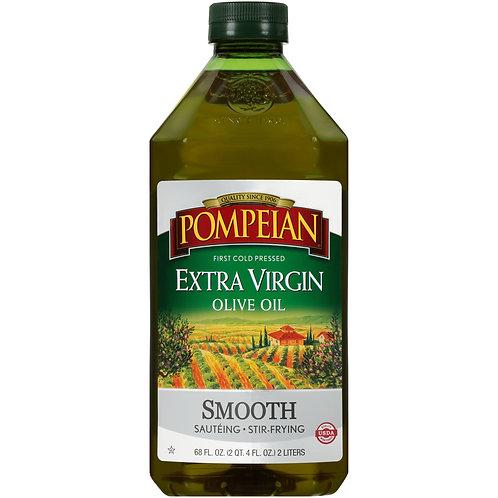 Pompeian Smooth Extra Virgin Olive Oil, 68 fl oz