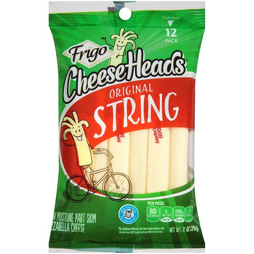 Frigo Cheese Heads Mozzarella String Cheese, 12 Oz., 12 Count