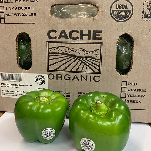 Organic green bell peppers 1ea