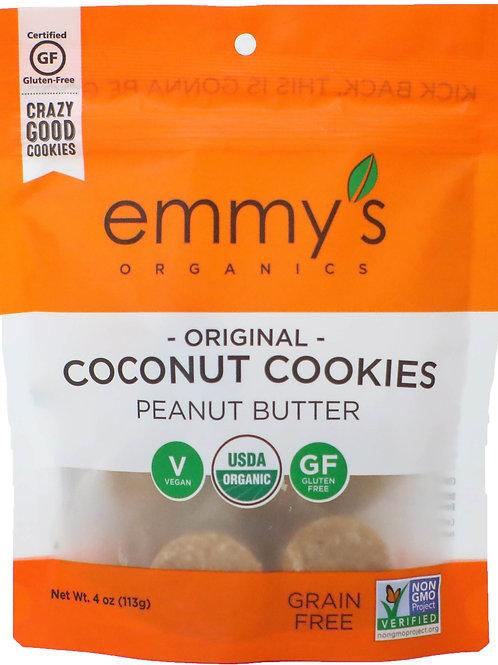 Emmy's Organic Coconut Cookies Peanut Butter 4z
