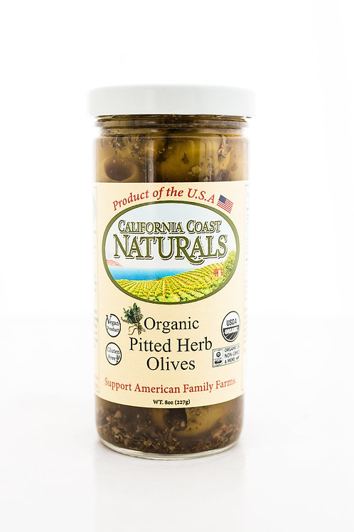 California Coast Naturals organic pitted herb olives 8z