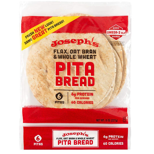Joseph's Bakery Pita Bread, Low Carb, 8 oz.