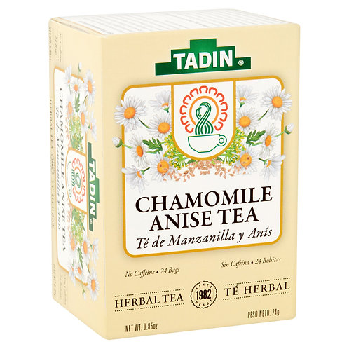 Tadin Herb & Tea Co. Chamomile & Anise Herbal Tea, Caffeine Free, 24 Tea Bags