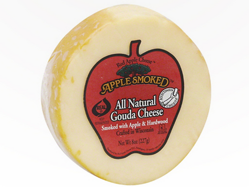 Apple Smoked All Natural Gouda Cheese 8z