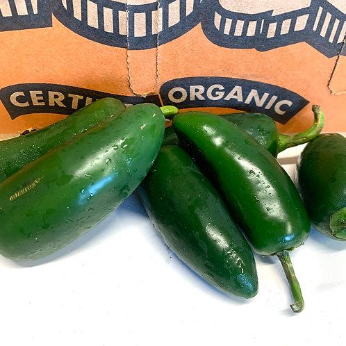 Organic jalapeño peppers 1/2 lb (Mx)