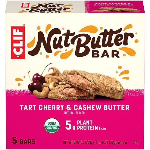 CLIF Nut Butter Bar, Organic Snack Bars, Tart Cherry Berry, 5 Ct, 1.76 oz