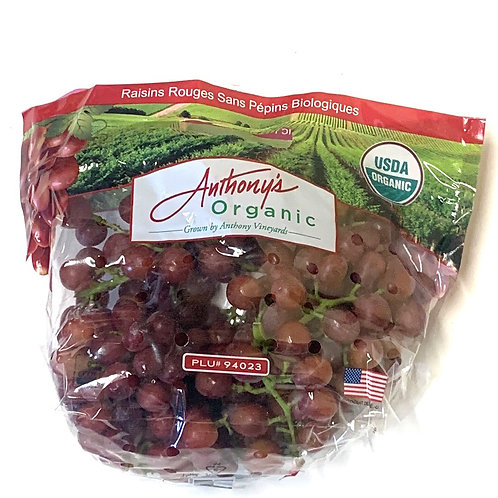 Organic red seedless grapes  (1.5-2 lbs)