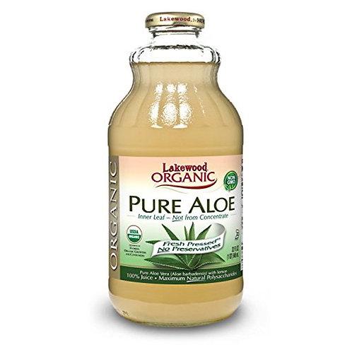 Lakewood Organic PURE Aloe Inner Leaf Juice, 32-Ounce Bottles