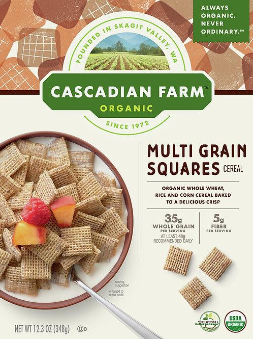 Cascadian Farm Organic Multi Grain Squares Cereal, 12.3 oz