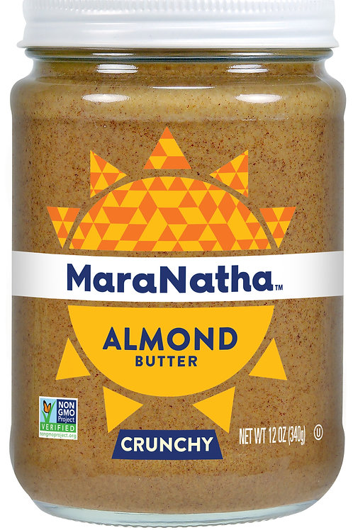 MaraNatha No Stir Crunchy Almond Butter, 12z Jar