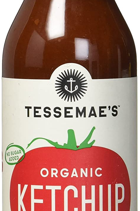 Tessemaes USDA Organic All Natural Ketchup, No Sugar Added, Non GMO 10z
