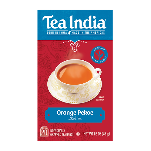 Tea India, Orange Pekoe Black Tea, 20 Ct Tea Bags