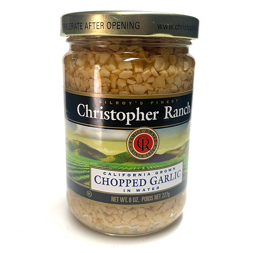 Christopher Ranch chopped garlic in water 8z (#83350)