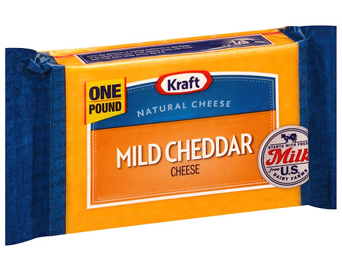 Kraft Mild Cheddar Cheese Block, 16 oz