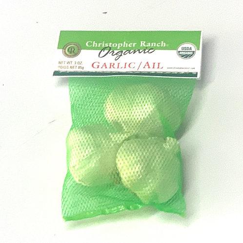 Organic garlic 3z cello pack (USA)