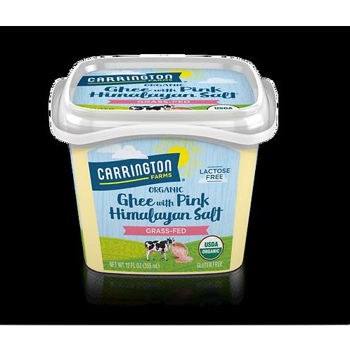 Carrington Farms Ghee with Himalayan Pink Salt 12z