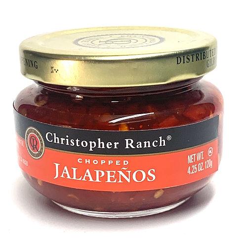 Christopher Ranch chopped jalapeños 4.25z
