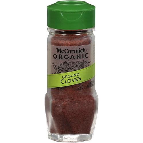 McCormick Gourmet Organic Ground Cloves, 1.75 oz