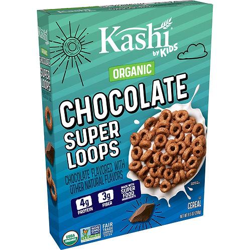 Kashi Organic Chocolate Super Loops Cereal 9.5 Oz