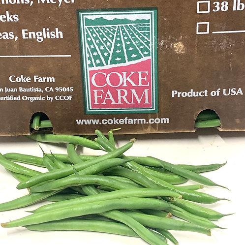 Organic green beans 1lb.